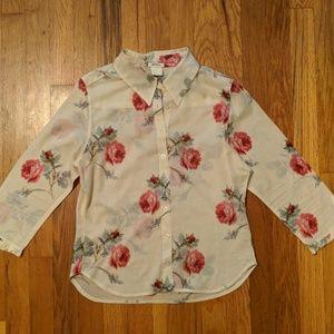 Lyrique Rose Flower Blouse